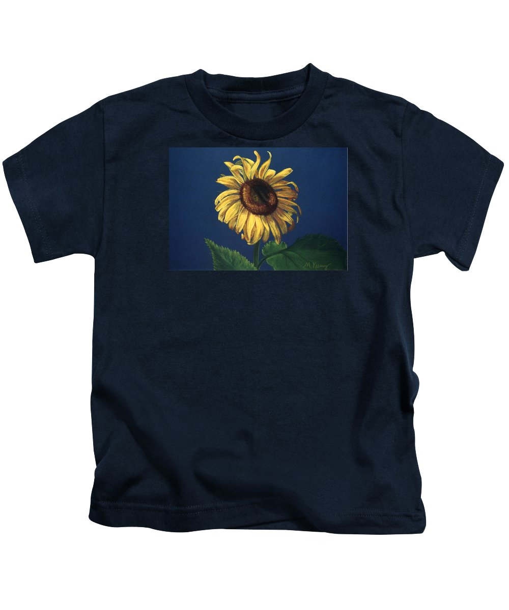 Flower Kids T-Shirt featuring the painting Sunflower by Melissa Joyfully