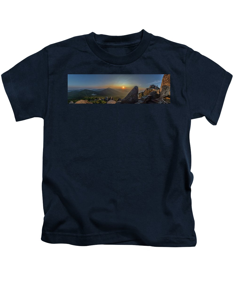 Kids T-Shirt featuring the photograph Sunrise At The Summit by Steve Hammer