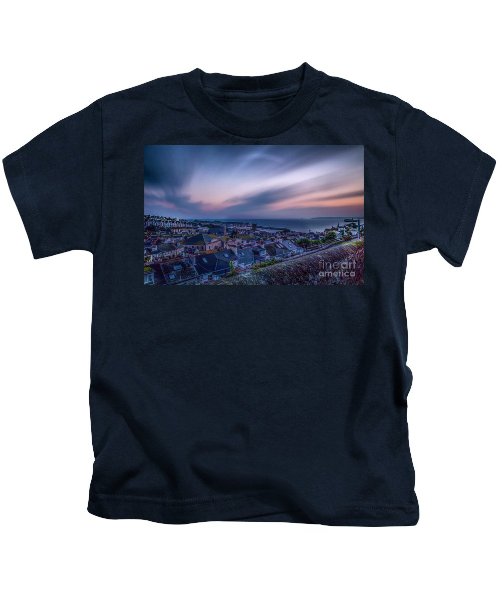 Cornwall Kids T-Shirt featuring the photograph Sunrise In St Ives In Cornwall by Philip Pound