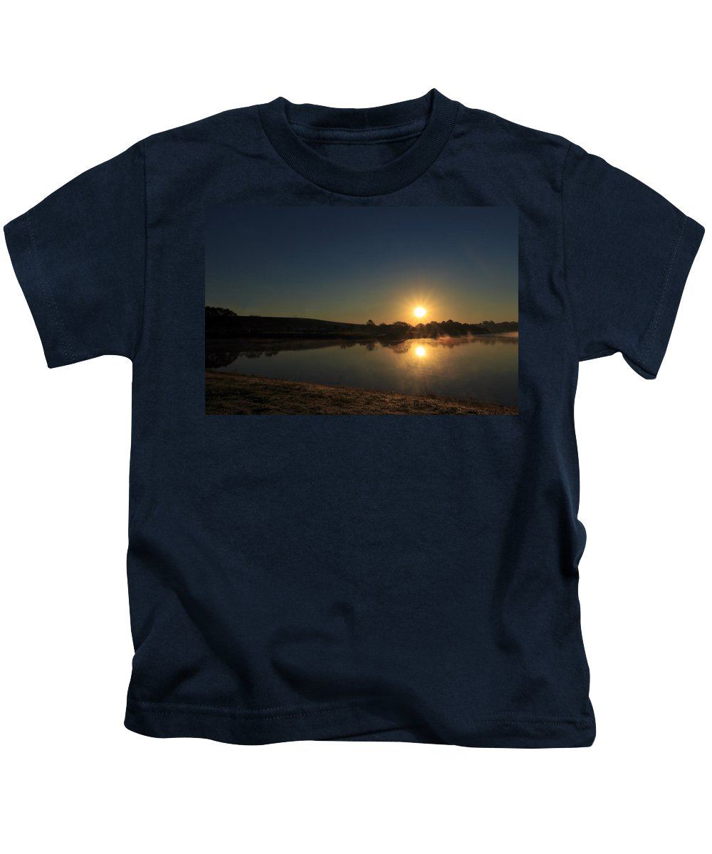 Sun Kids T-Shirt featuring the photograph Sunrise Reflection by Travis Rogers