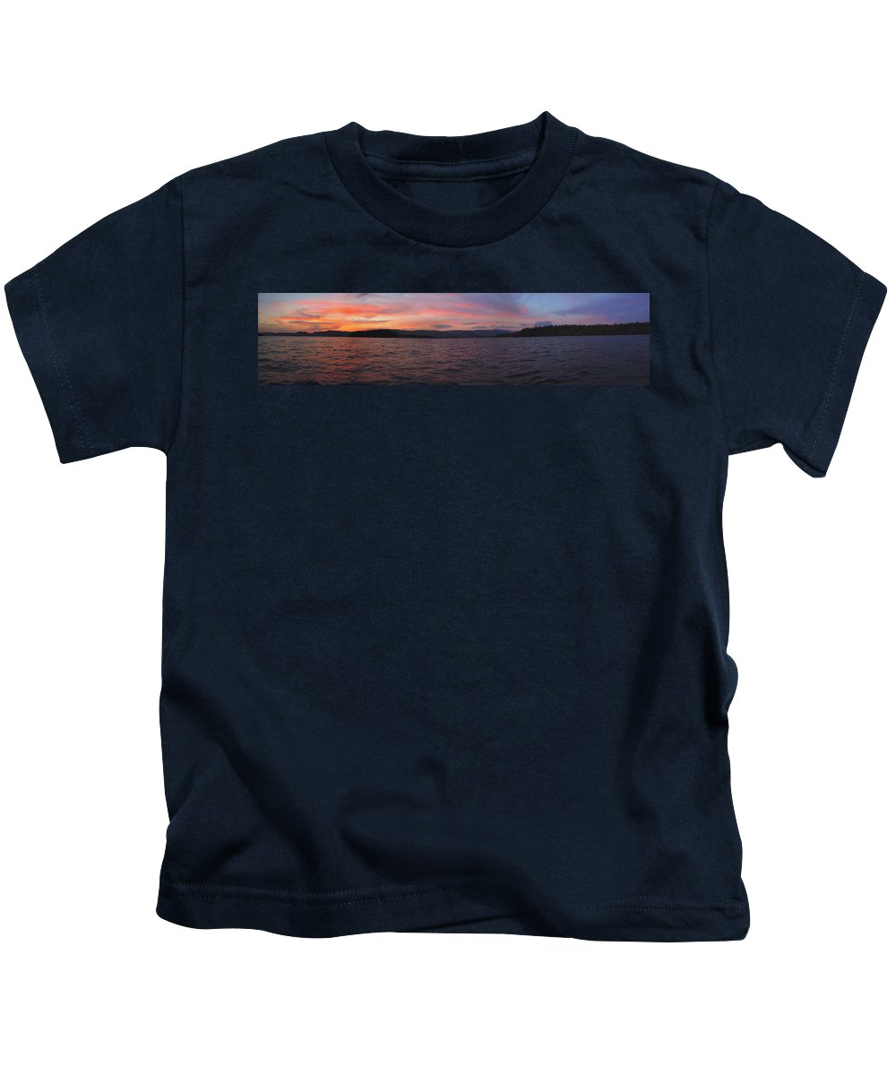 Lake Kids T-Shirt featuring the photograph Sunset At Squam Lake New Hampshire by Nancy Griswold