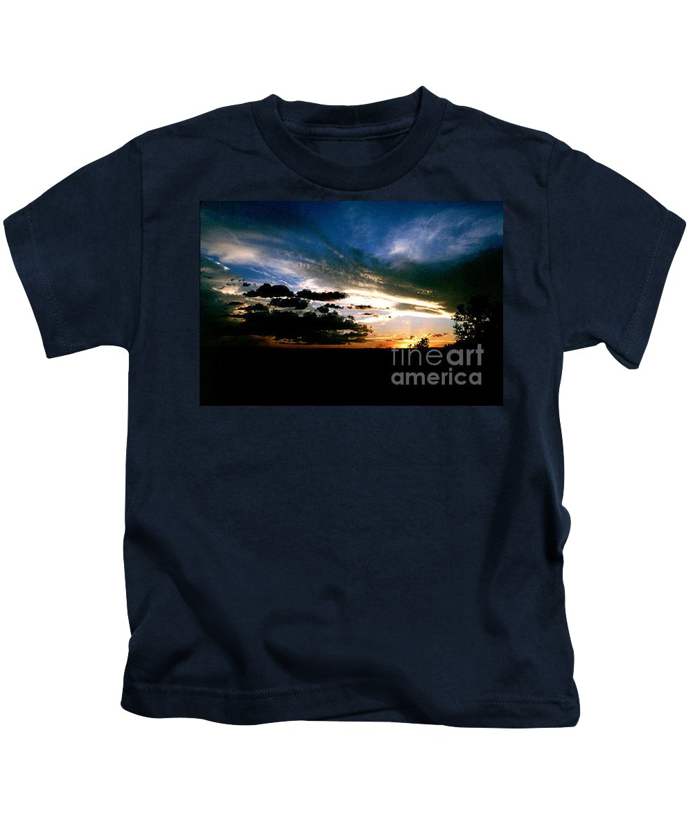 Sunset Kids T-Shirt featuring the photograph Sunset At The North Rim by Kathy McClure