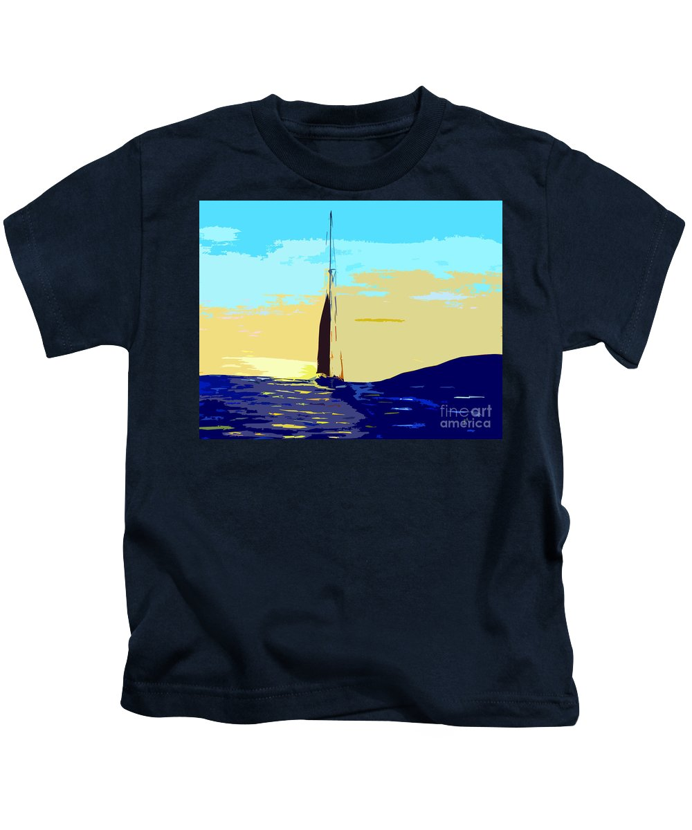 Sunset Kids T-Shirt featuring the painting Sunset D1 by Michael Moore