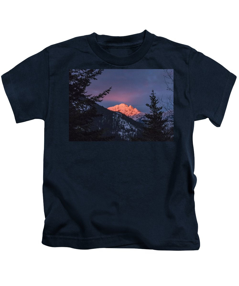Mountains Kids T-Shirt featuring the photograph Sunset In The Mountains by Stephen Coletta