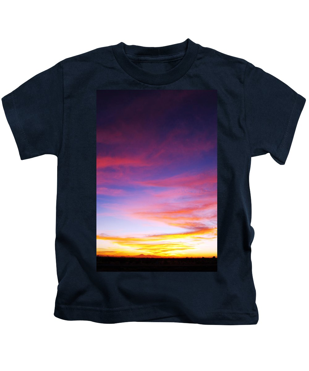 Sunset Kids T-Shirt featuring the photograph Sunset Over Desert by Jill Reger