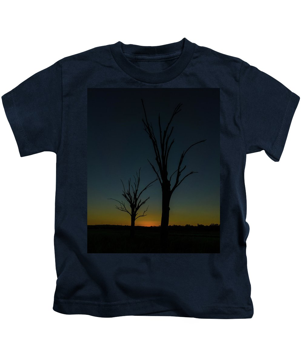Sunset Kids T-Shirt featuring the photograph Sunsette Silhouette by Graeme Mell