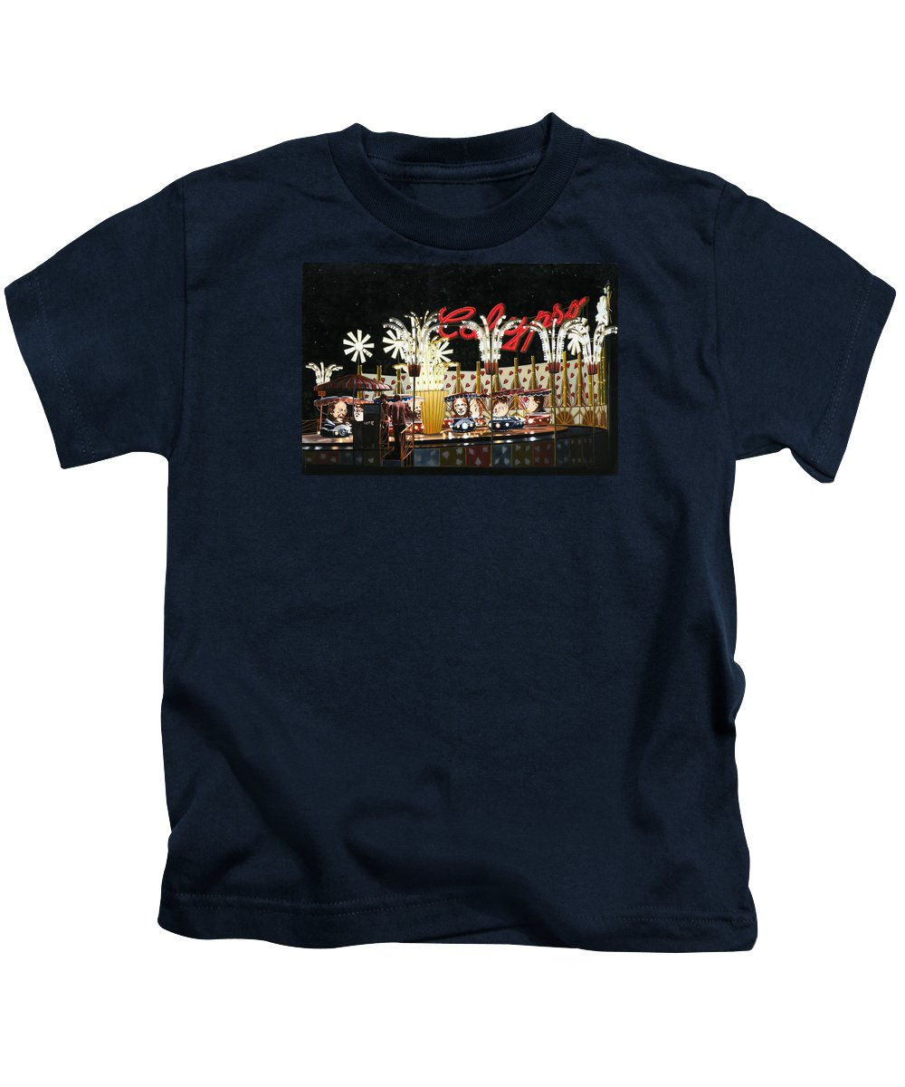 Surreal Kids T-Shirt featuring the painting Surreal Carnival by Dave Martsolf