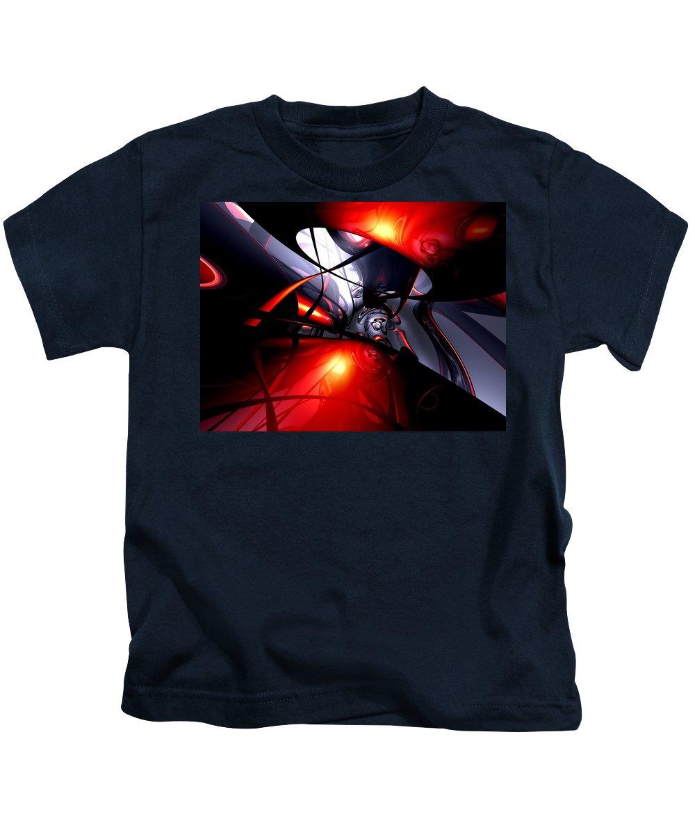 3d Kids T-Shirt featuring the digital art Swirling Venom Abstract by Alexander Butler