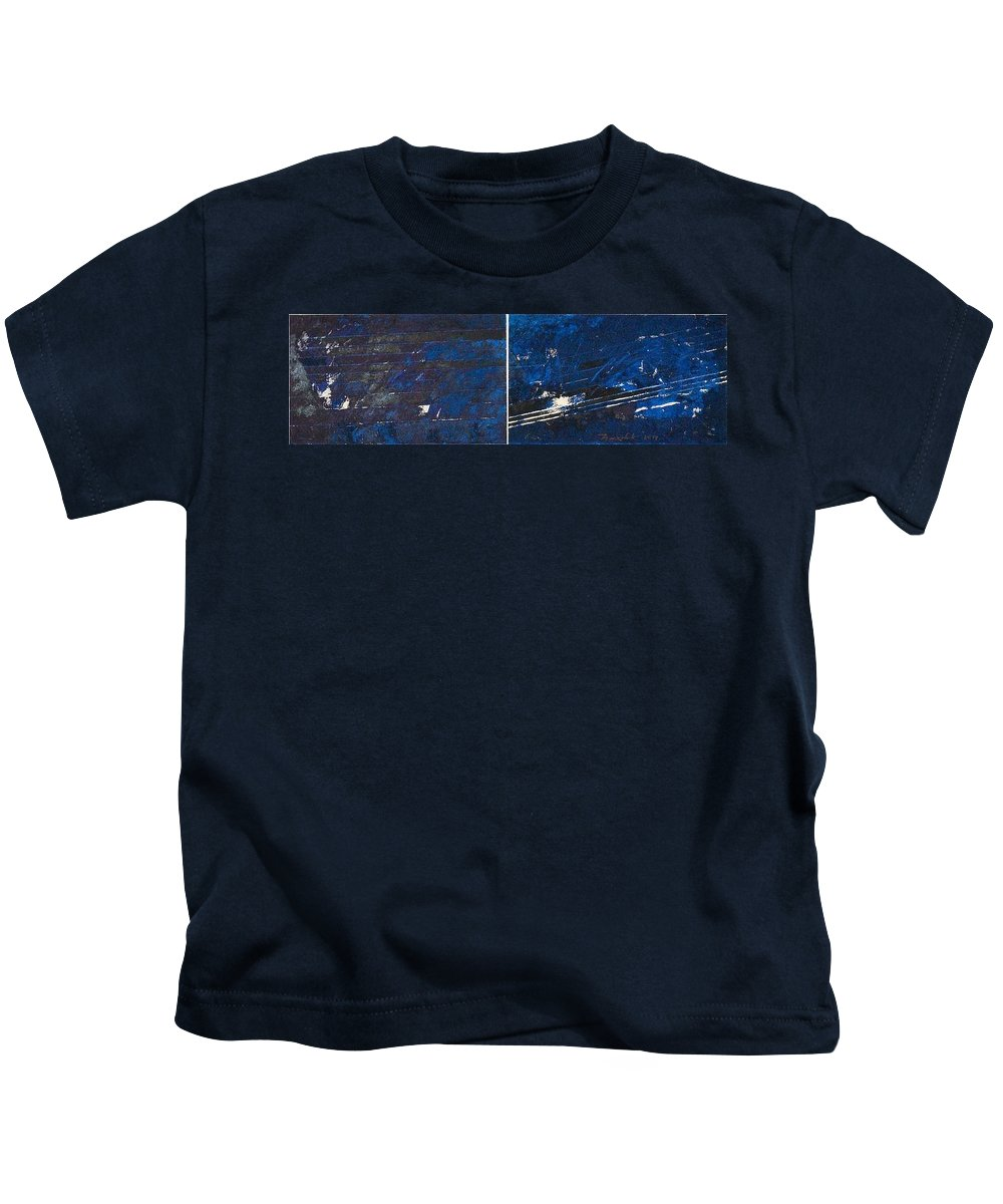 Abstraction Kids T-Shirt featuring the painting Symphony No. 8 Movement 10 Vladimir Vlahovic- Images Inspired By The Music Of Gustav Mahler by Vladimir Vlahovic