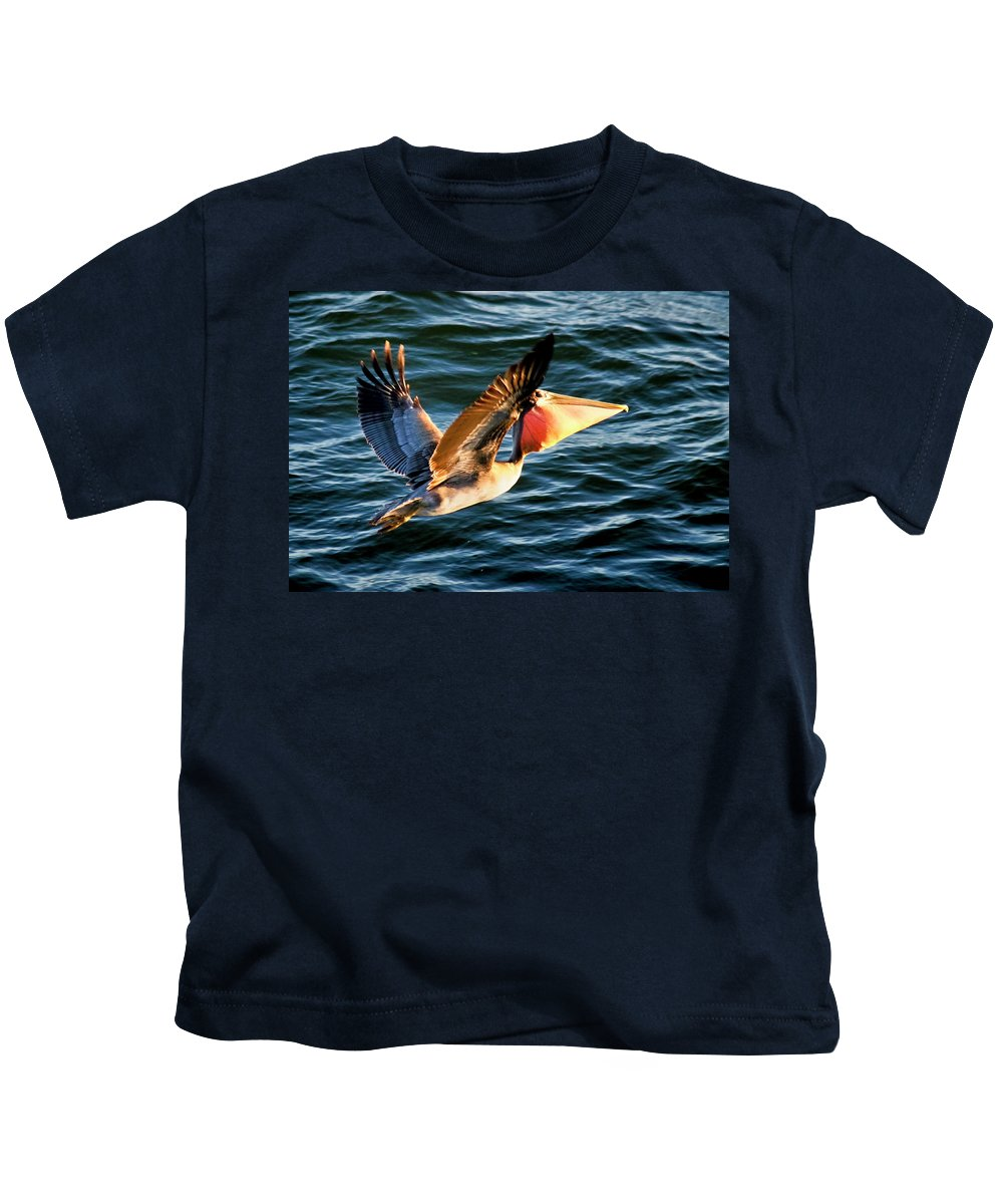 Birds Kids T-Shirt featuring the photograph Take-out by Albert Seger