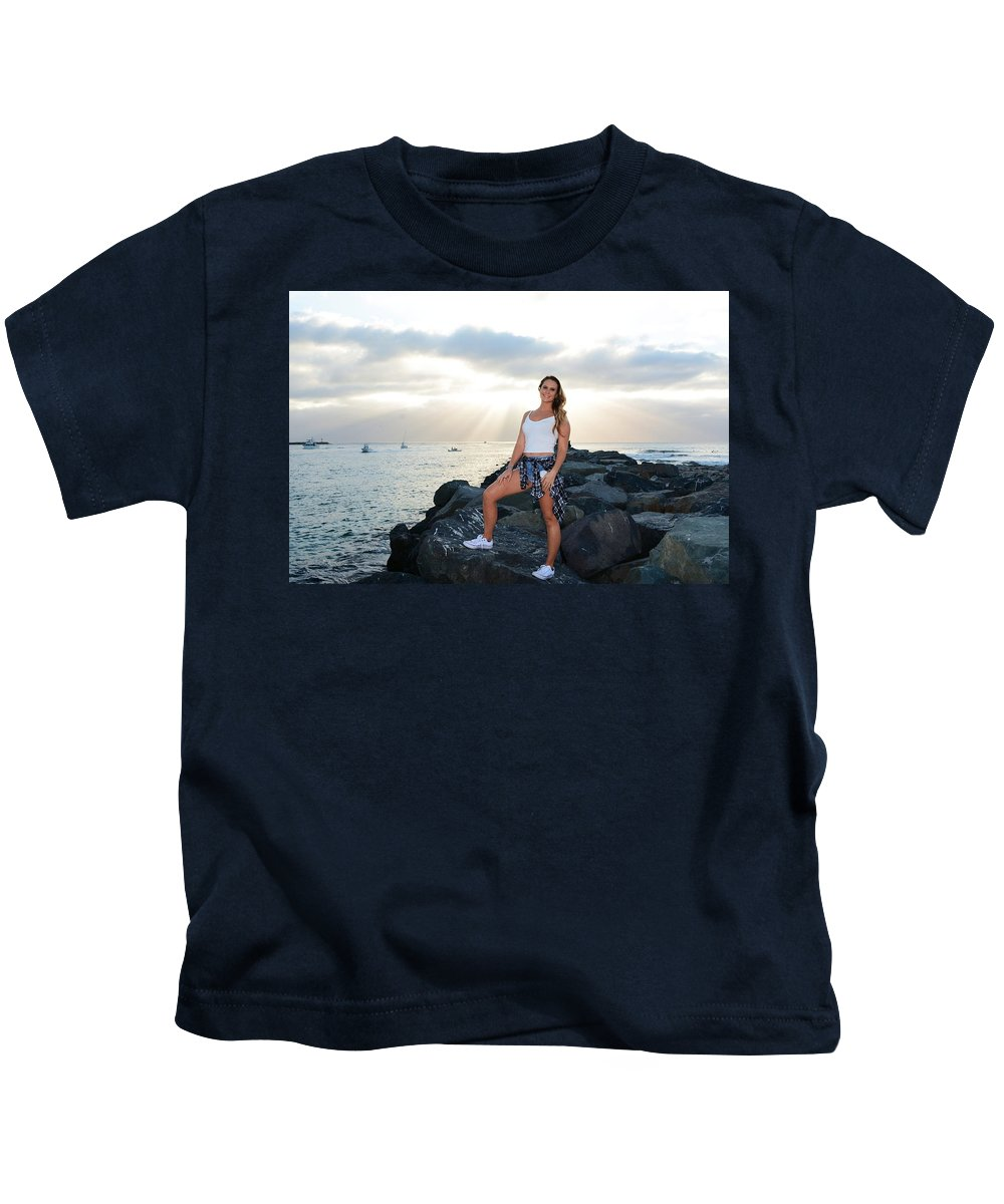Fashion Kids T-Shirt featuring the photograph Taylor 034 by Remegio Dalisay