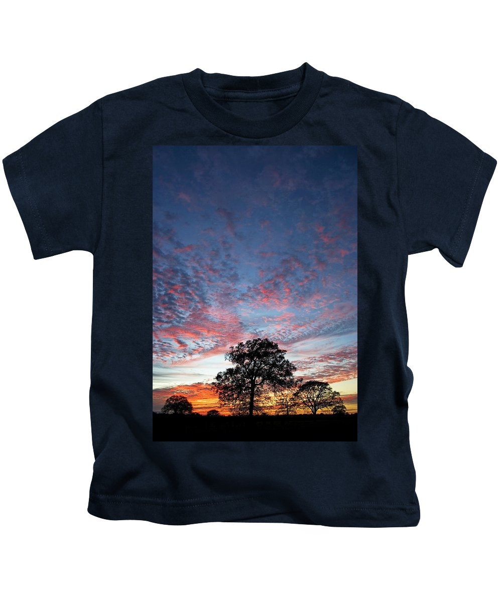 Tree Kids T-Shirt featuring the photograph Texas Sunset by Skip Hunt