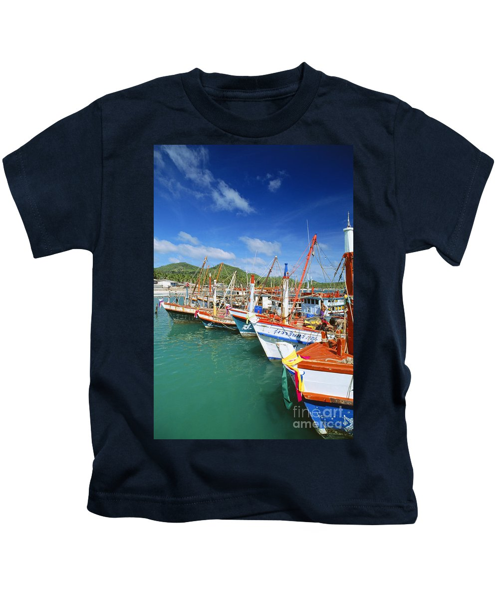 Blue Kids T-Shirt featuring the photograph Thailand, Koh Phangan by William Waterfall - Printscapes