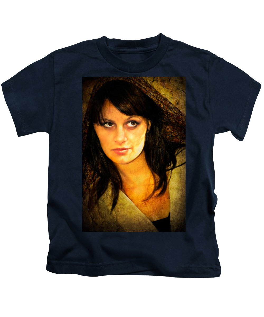 Woman Kids T-Shirt featuring the photograph That Look by Rich Leighton