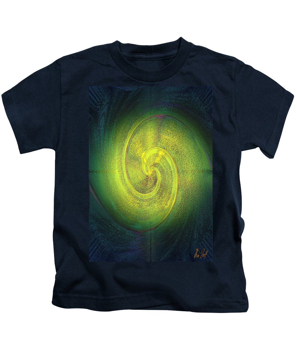 Grossdrucke Kids T-Shirt featuring the digital art The Alternate Idea by Helmut Rottler