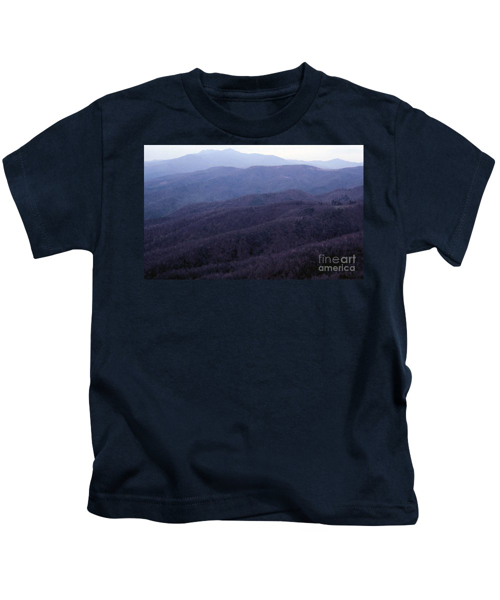 Mountains Kids T-Shirt featuring the photograph The Blue Ridge by Richard Rizzo
