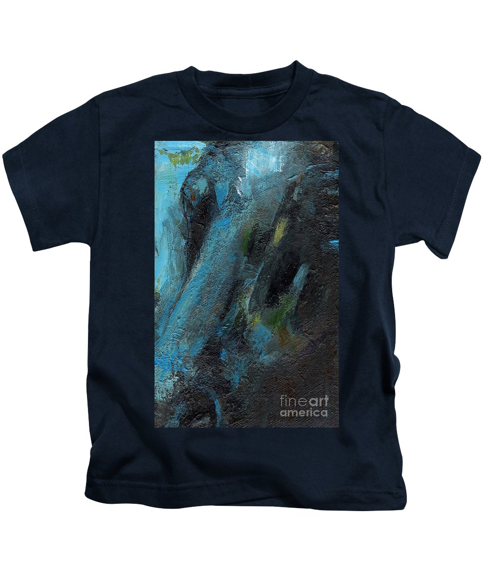 Horses Kids T-Shirt featuring the painting The Blue Roan by Frances Marino