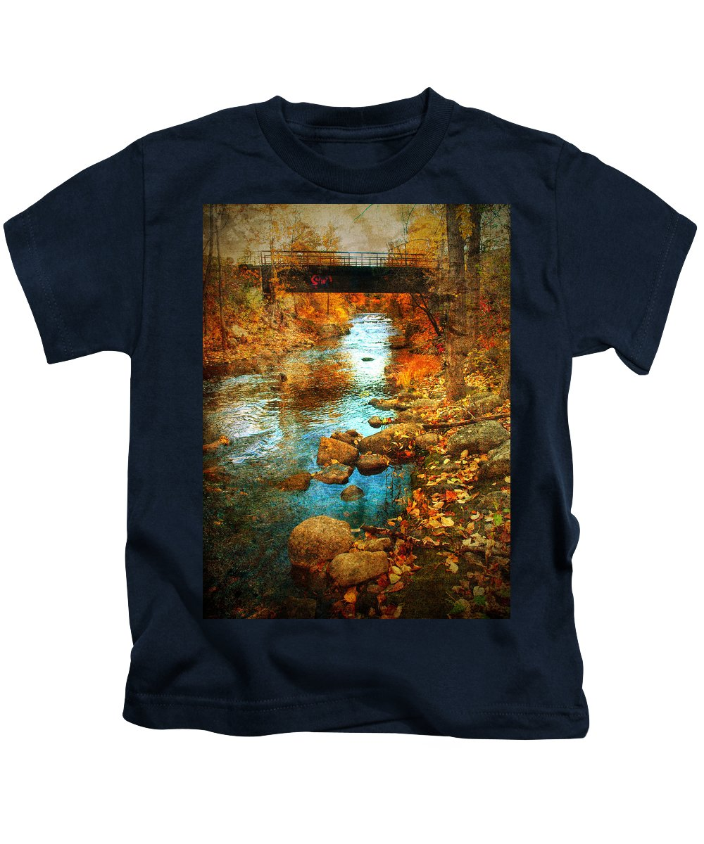 Penticton Kids T-Shirt featuring the photograph The Bridge By Government Street by Tara Turner