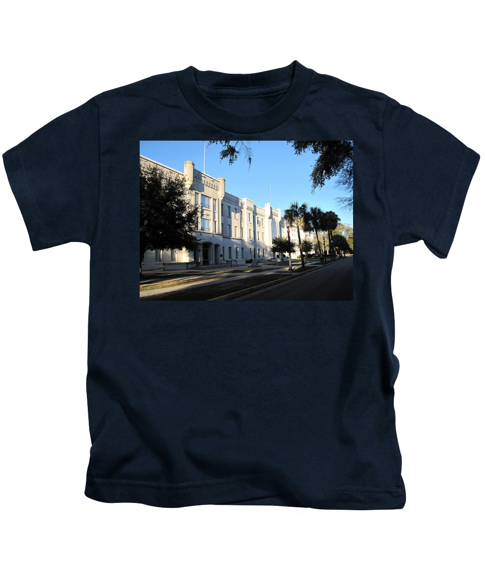 Photography Kids T-Shirt featuring the photograph The Citadel In Charleston IIi by Susanne Van Hulst