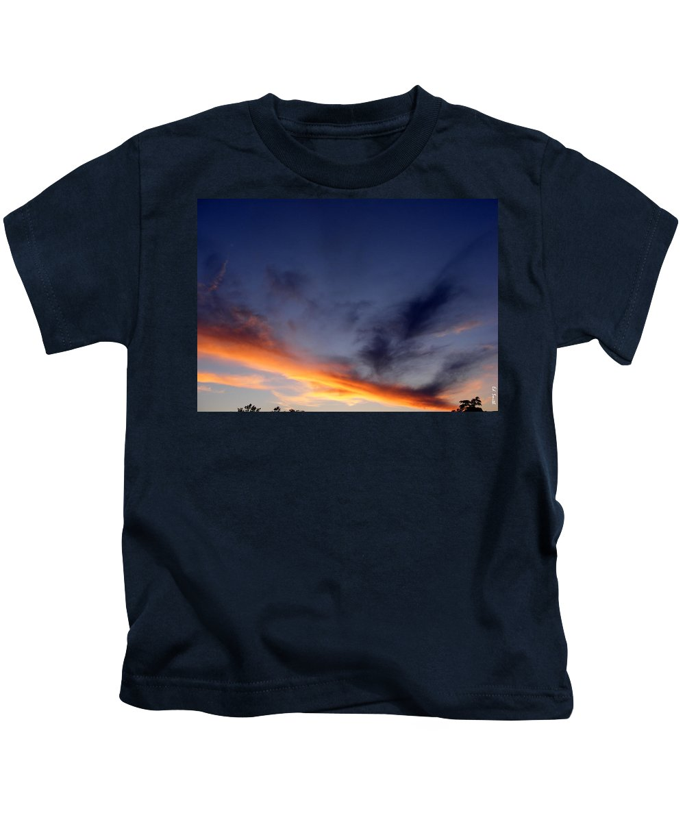 The Dividing Line Kids T-Shirt featuring the photograph The Dividing Line by Edward Smith