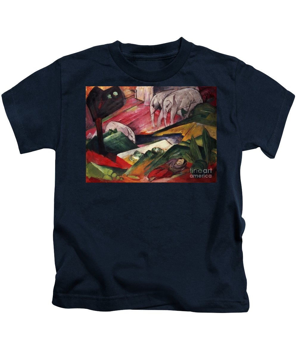 The Kids T-Shirt featuring the painting The Dream by Franz Marc