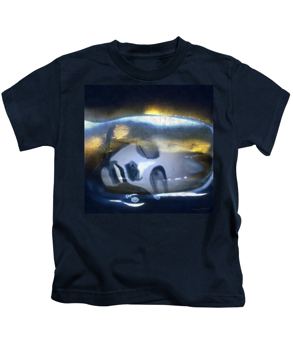 Dream Sky Universe Methaphysics Aura Afterlife Kids T-Shirt featuring the digital art The Dream by Veronica Jackson
