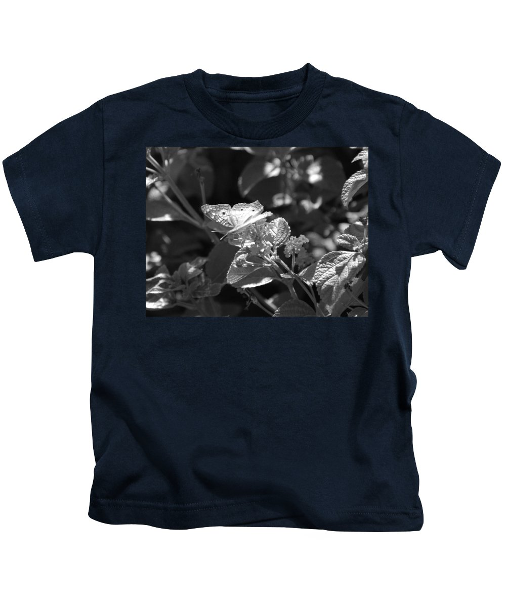 Black And White Kids T-Shirt featuring the photograph The Eagle Has Landed by Rob Hans