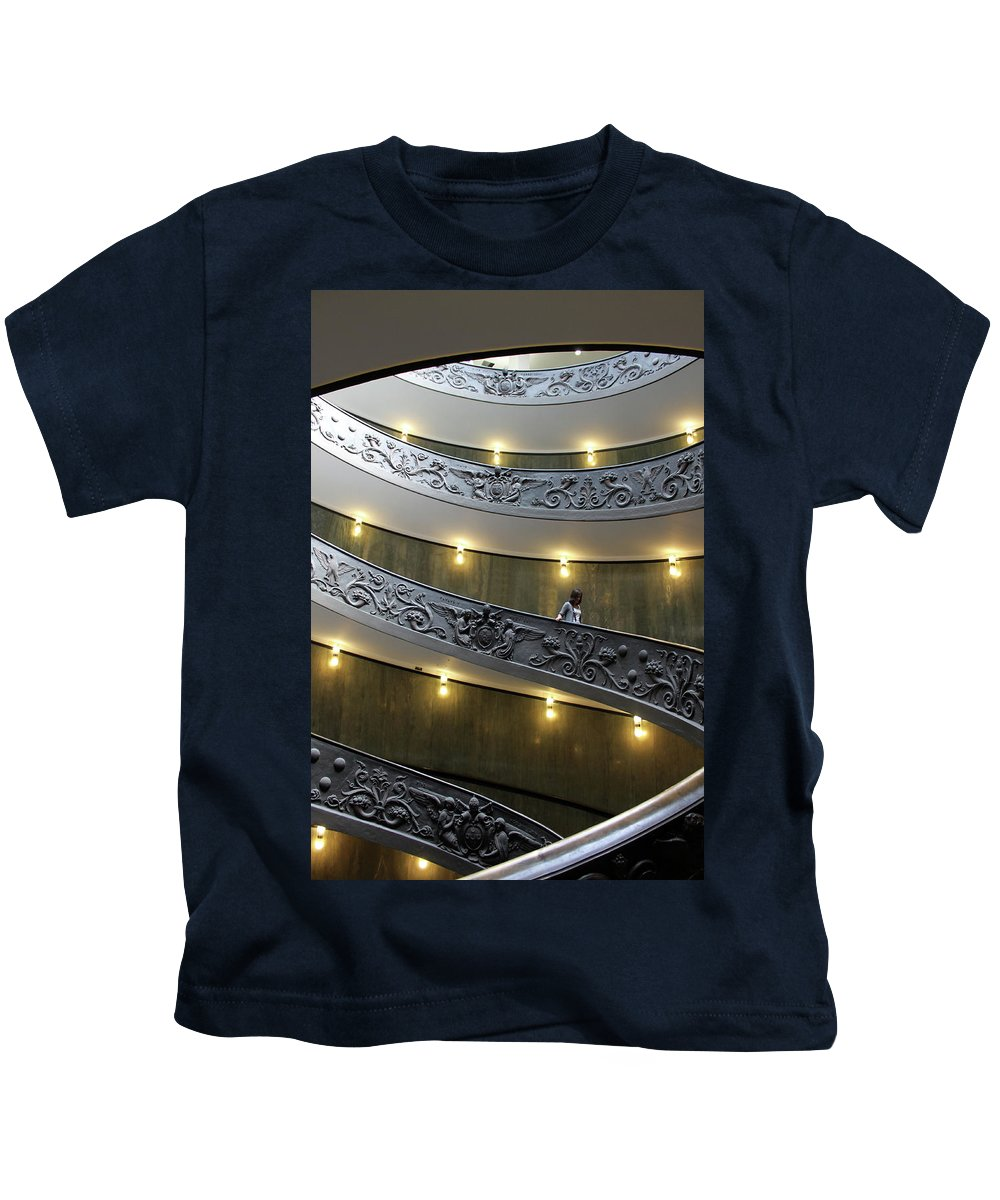 Rome Kids T-Shirt featuring the photograph The Exit by Munir Alawi