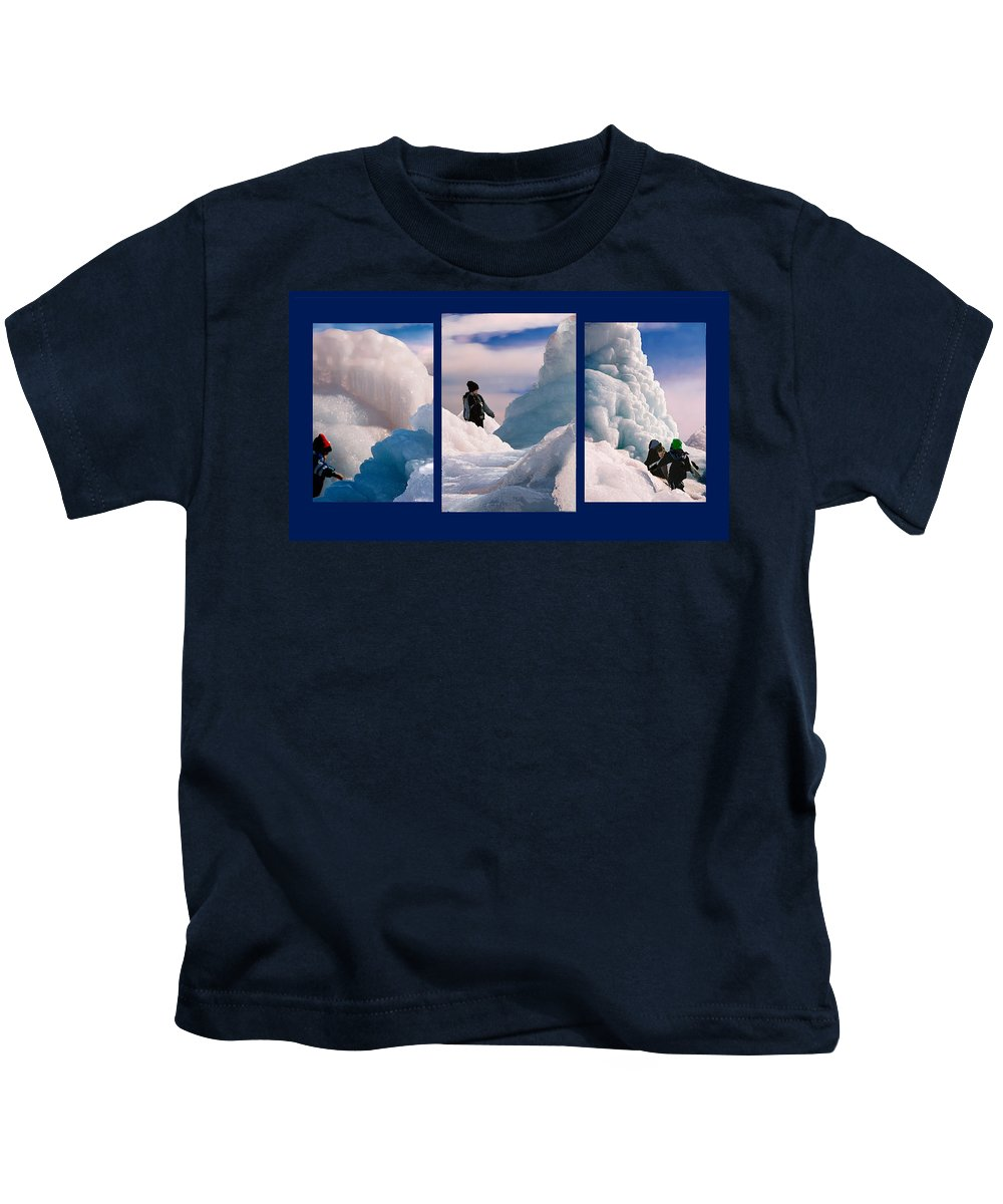Landscape Kids T-Shirt featuring the photograph The Explorers by Steve Karol