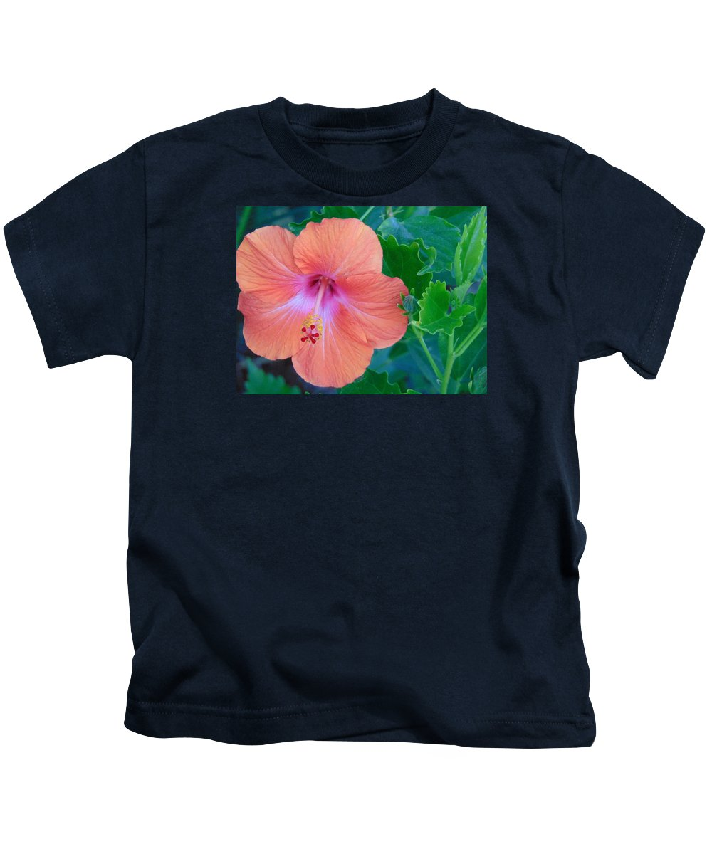 Green Kids T-Shirt featuring the photograph The Flower by Lisa Cooley
