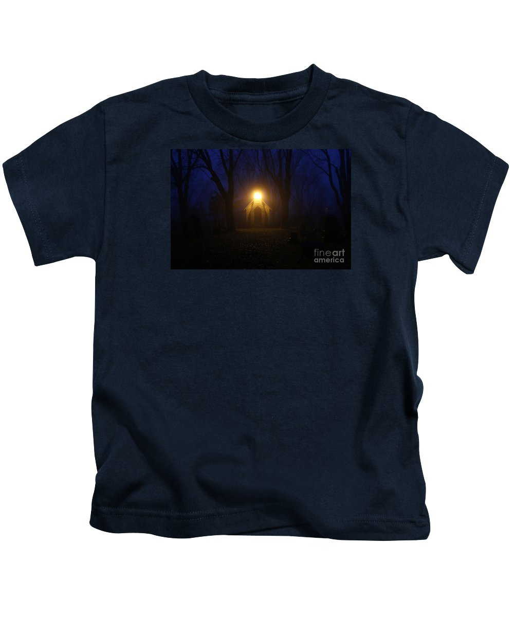Cemetery Kids T-Shirt featuring the photograph The Foggiest Idea 3 by Eric Curtin