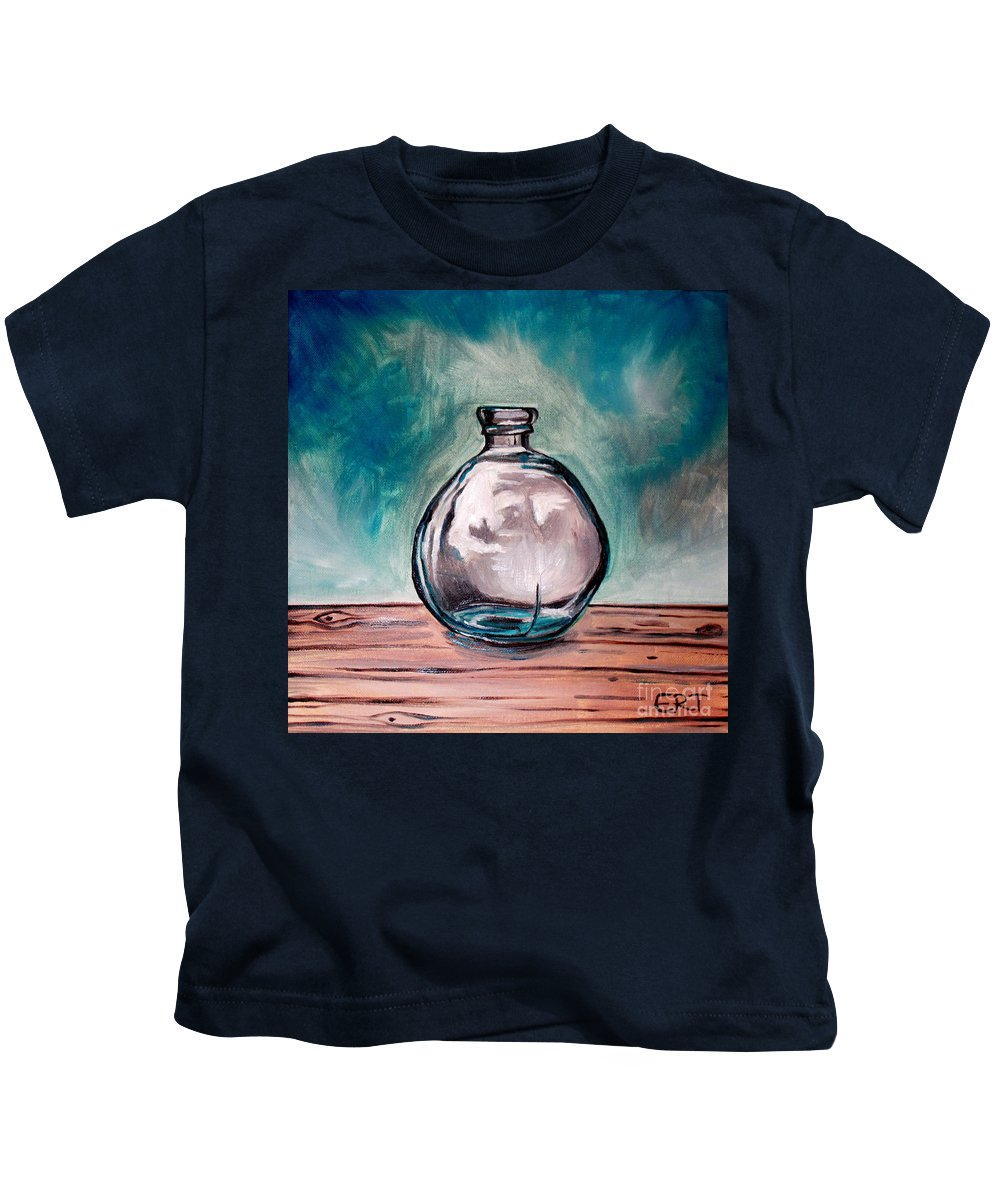 Glass Kids T-Shirt featuring the painting The Glass Bottle by Elizabeth Robinette Tyndall