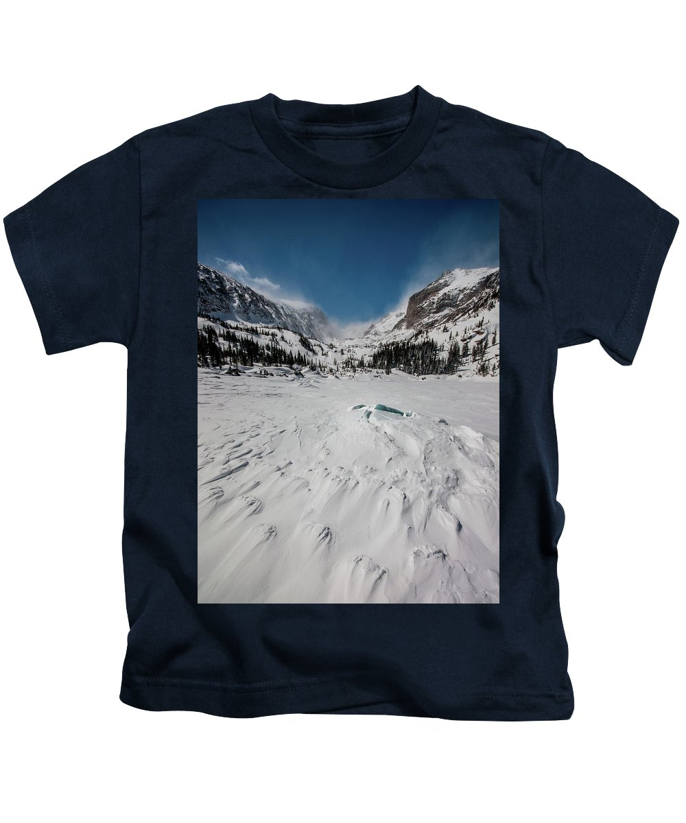 Landscape Kids T-Shirt featuring the photograph The Loch Under Snow by Rob Lantz