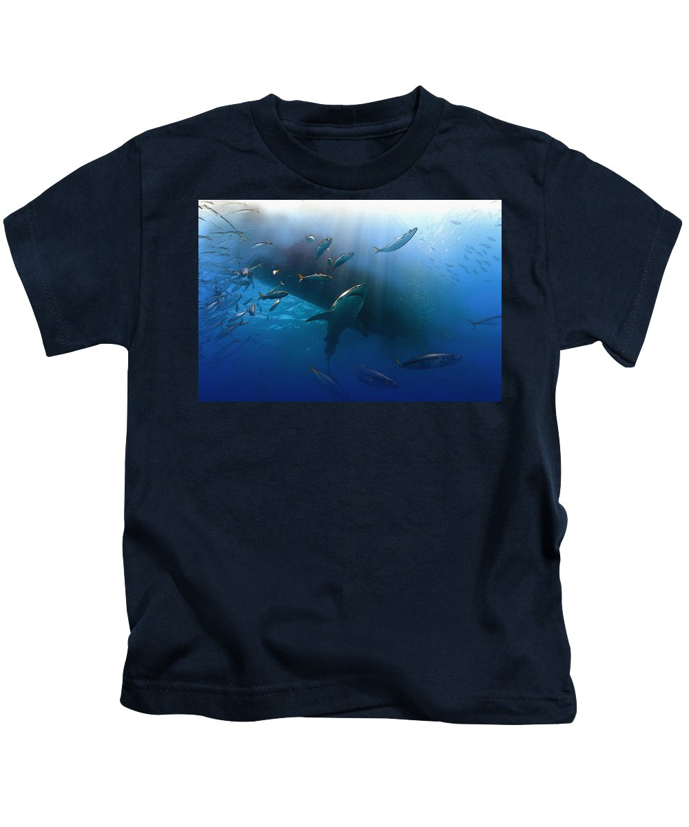 Home Art & Collectibles Kids T-Shirt featuring the digital art The Lord Of The Ocean by Don Kuing