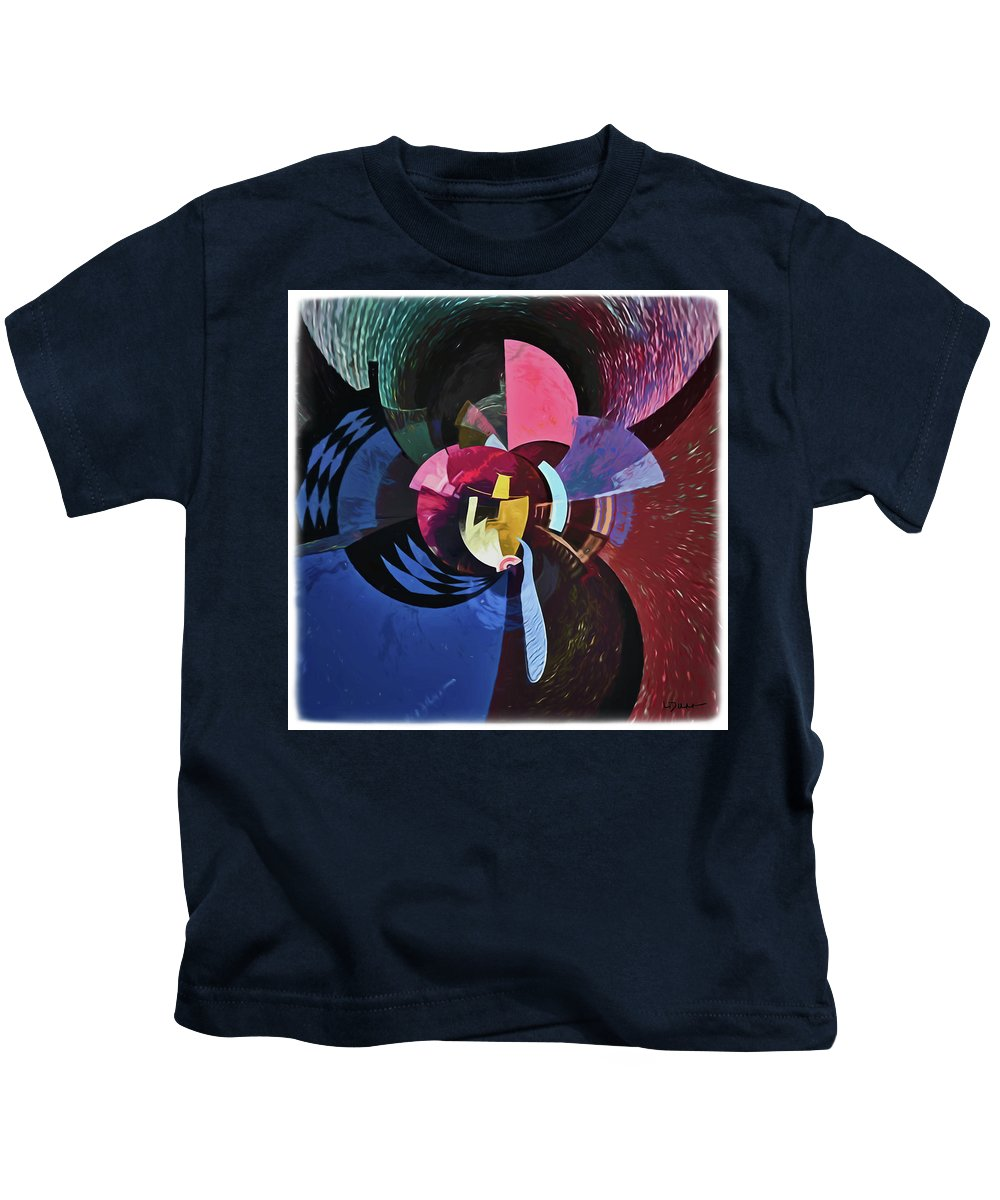 Abstract Kids T-Shirt featuring the digital art The Masters by Linda Dunn