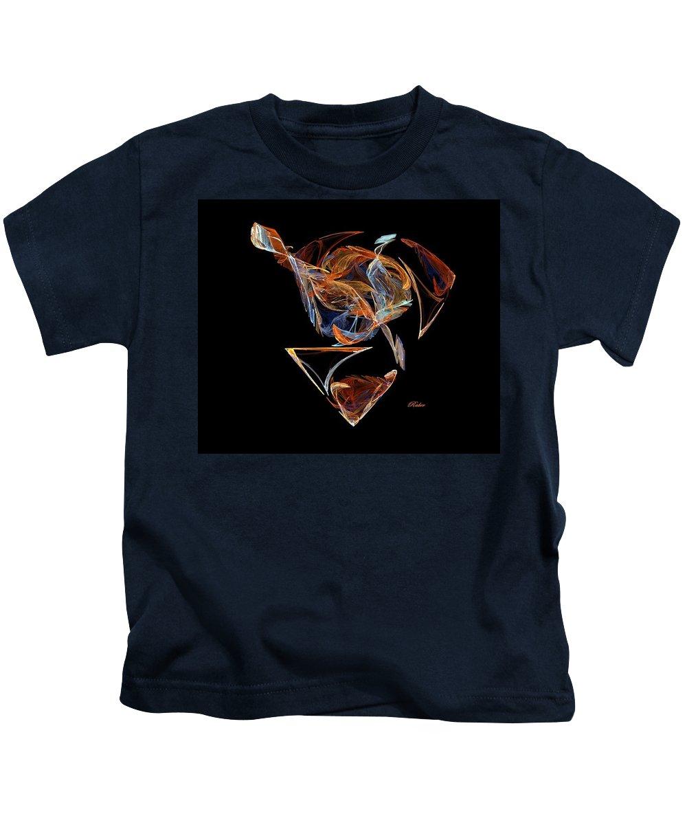 Bird Kids T-Shirt featuring the digital art The Nest by Sara Raber