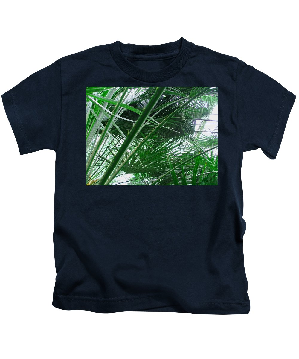 Palm Tree Kids T-Shirt featuring the photograph The Palm House Kew England by Heather Lennox