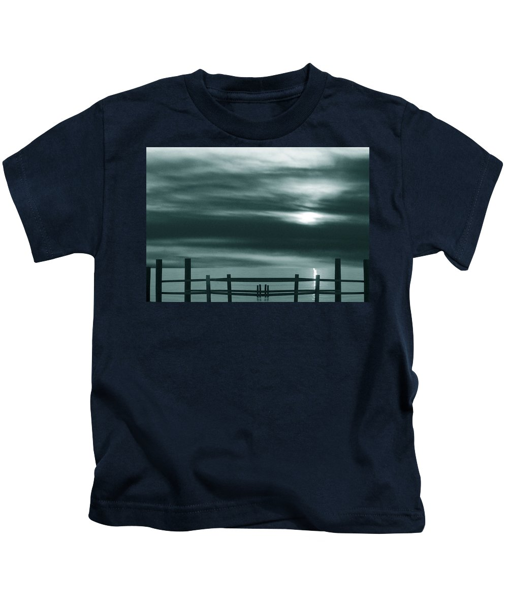 Photograph Kids T-Shirt featuring the photograph The Past by Munir Alawi