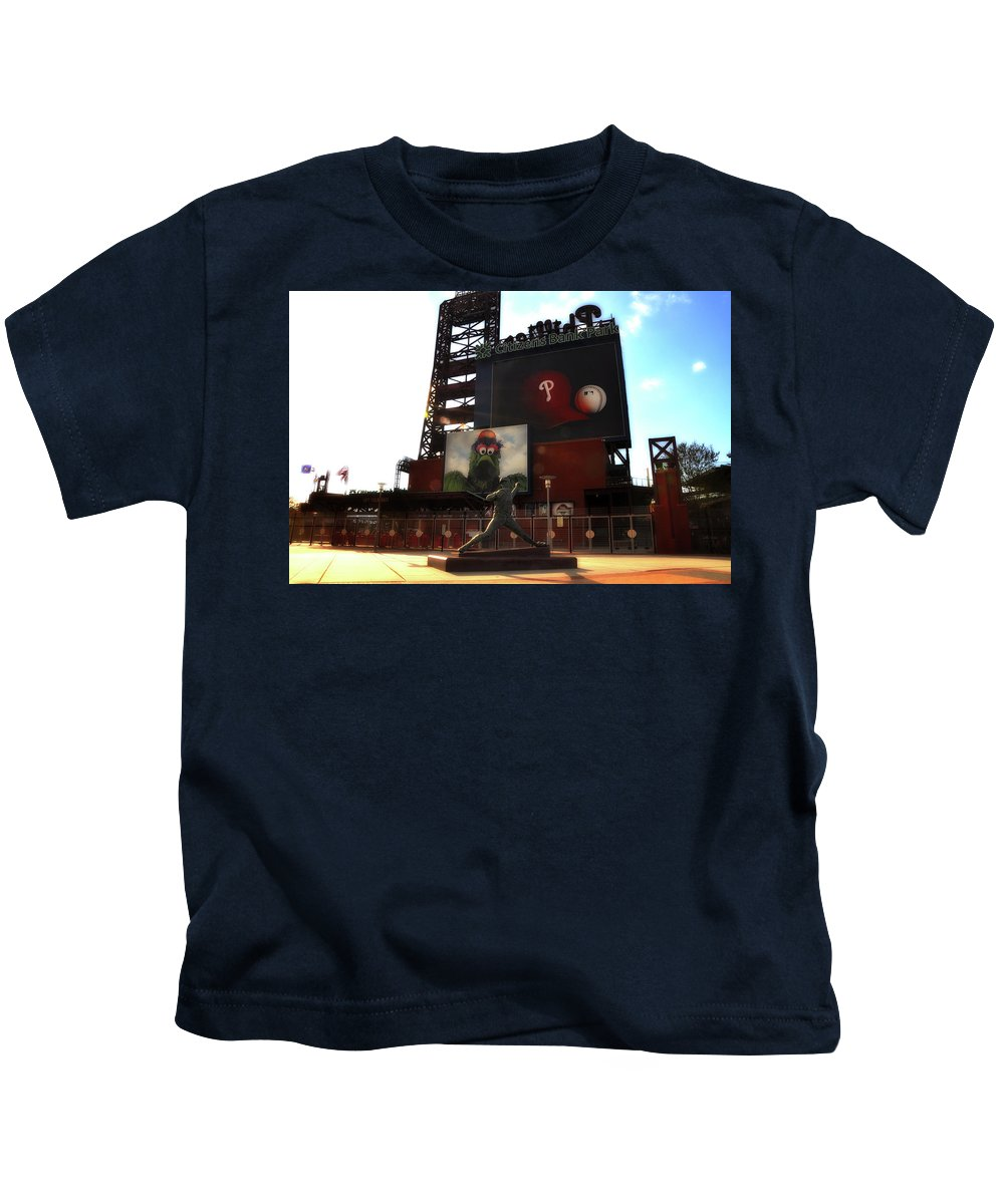 Sports Kids T-Shirt featuring the photograph The Phillies - Steve Carlton by Bill Cannon