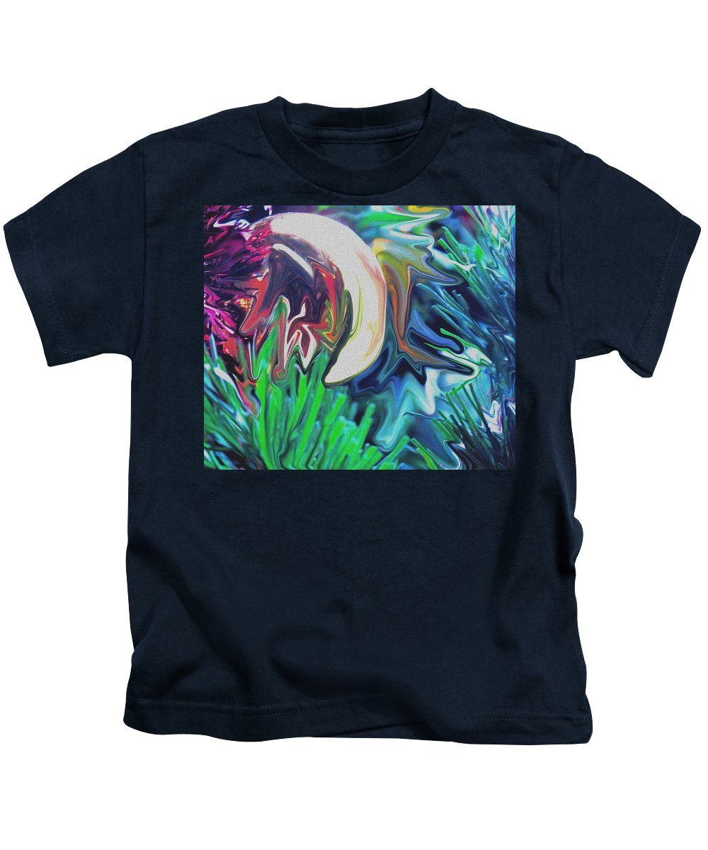 Abstract Kids T-Shirt featuring the digital art The Pond by Ian MacDonald
