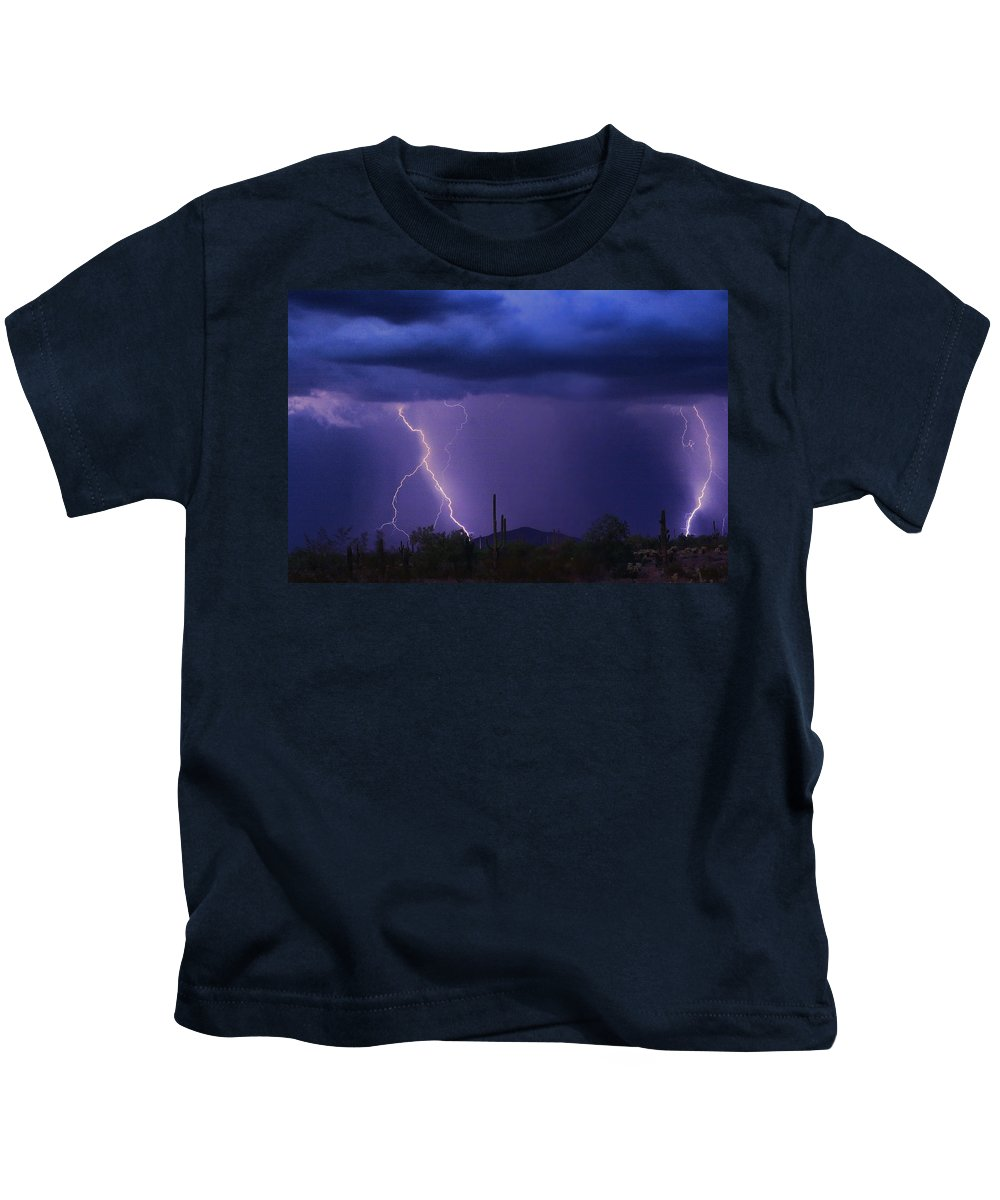 Arziona Kids T-Shirt featuring the photograph The Rain Is Coming by James BO Insogna