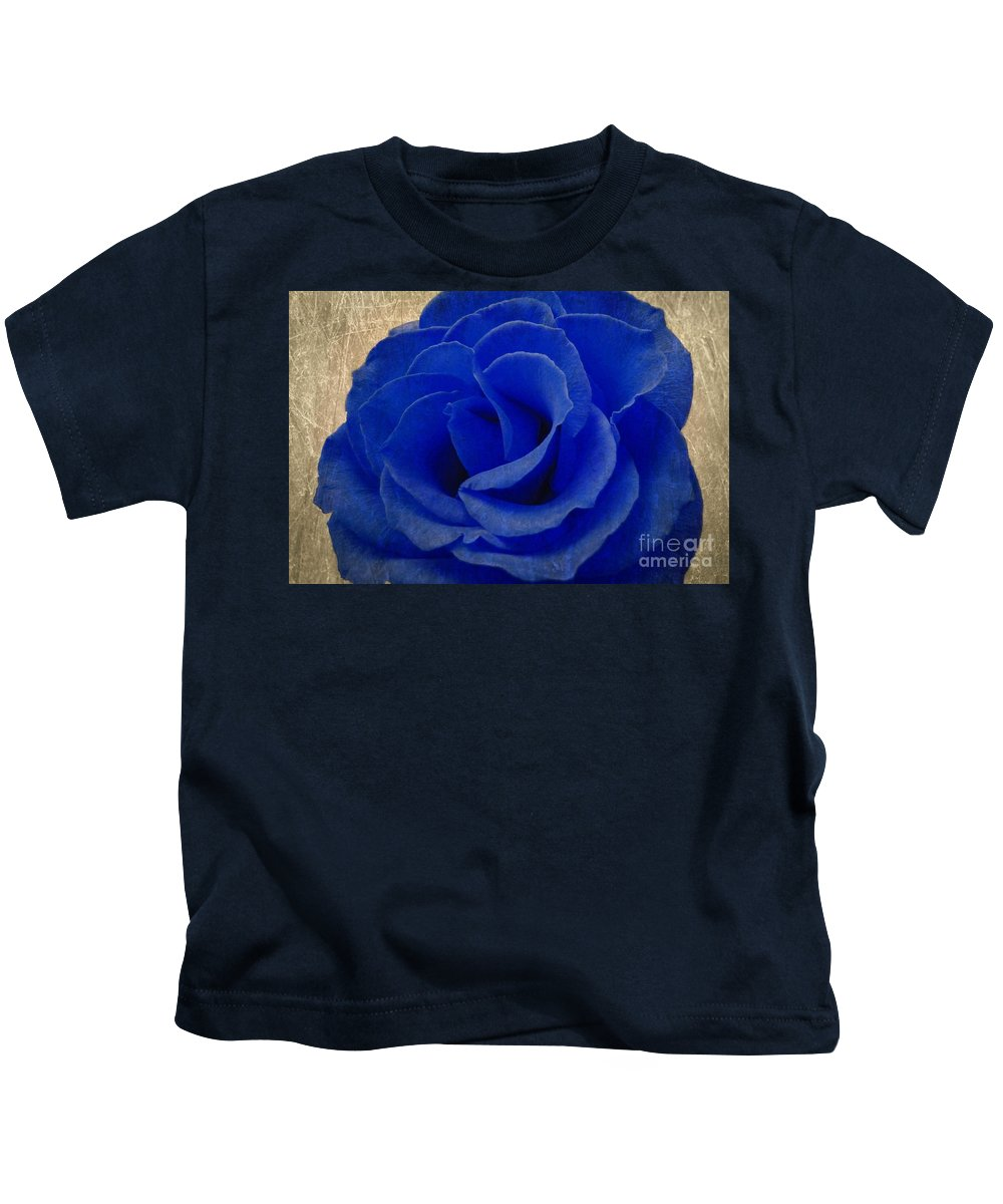 Blue Kids T-Shirt featuring the photograph The Rose Of Sadness by Jeffrey Kolker