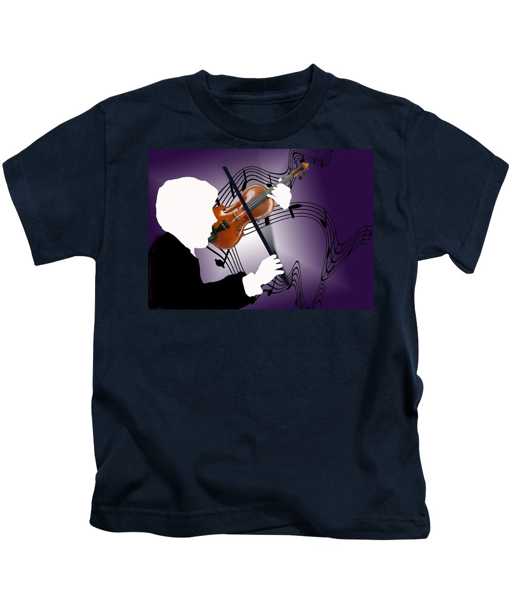 Violin Kids T-Shirt featuring the digital art The Soloist by Steve Karol