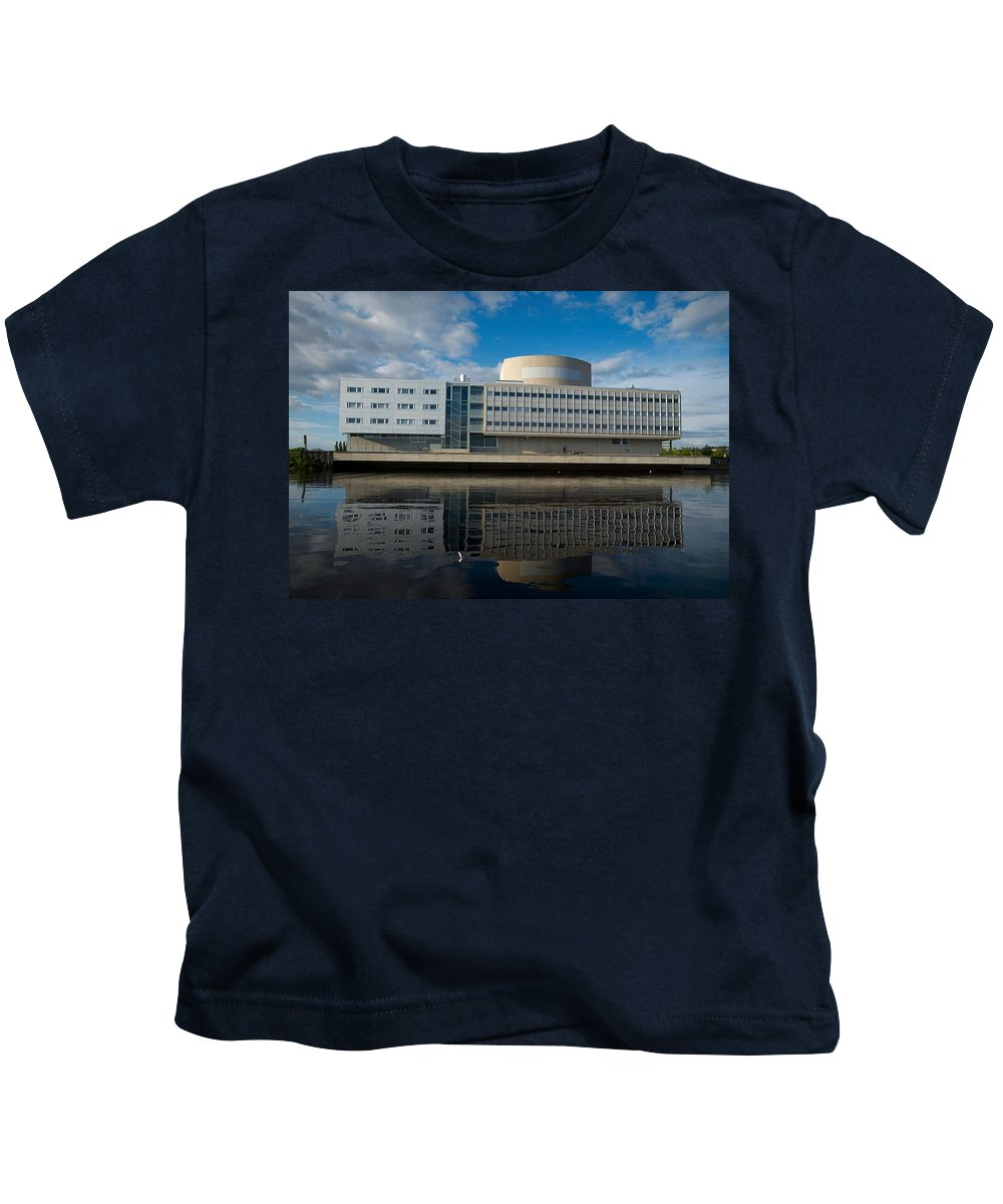 Oulu Kids T-Shirt featuring the photograph The Theatre Of Oulu 1 by Jouko Lehto