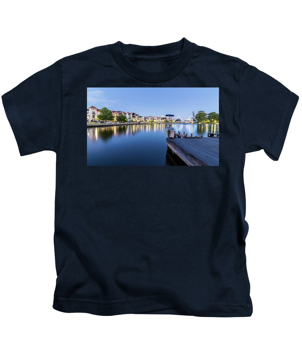 Light Kids T-Shirt featuring the photograph The View At Day's End by Sue Errington-Wood