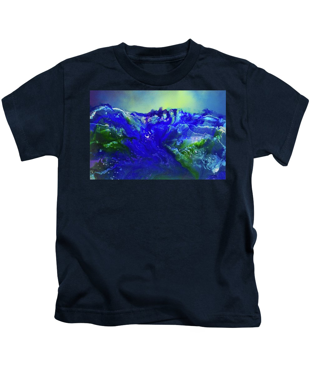 Art Kids T-Shirt featuring the painting The Wave by Karen Towey