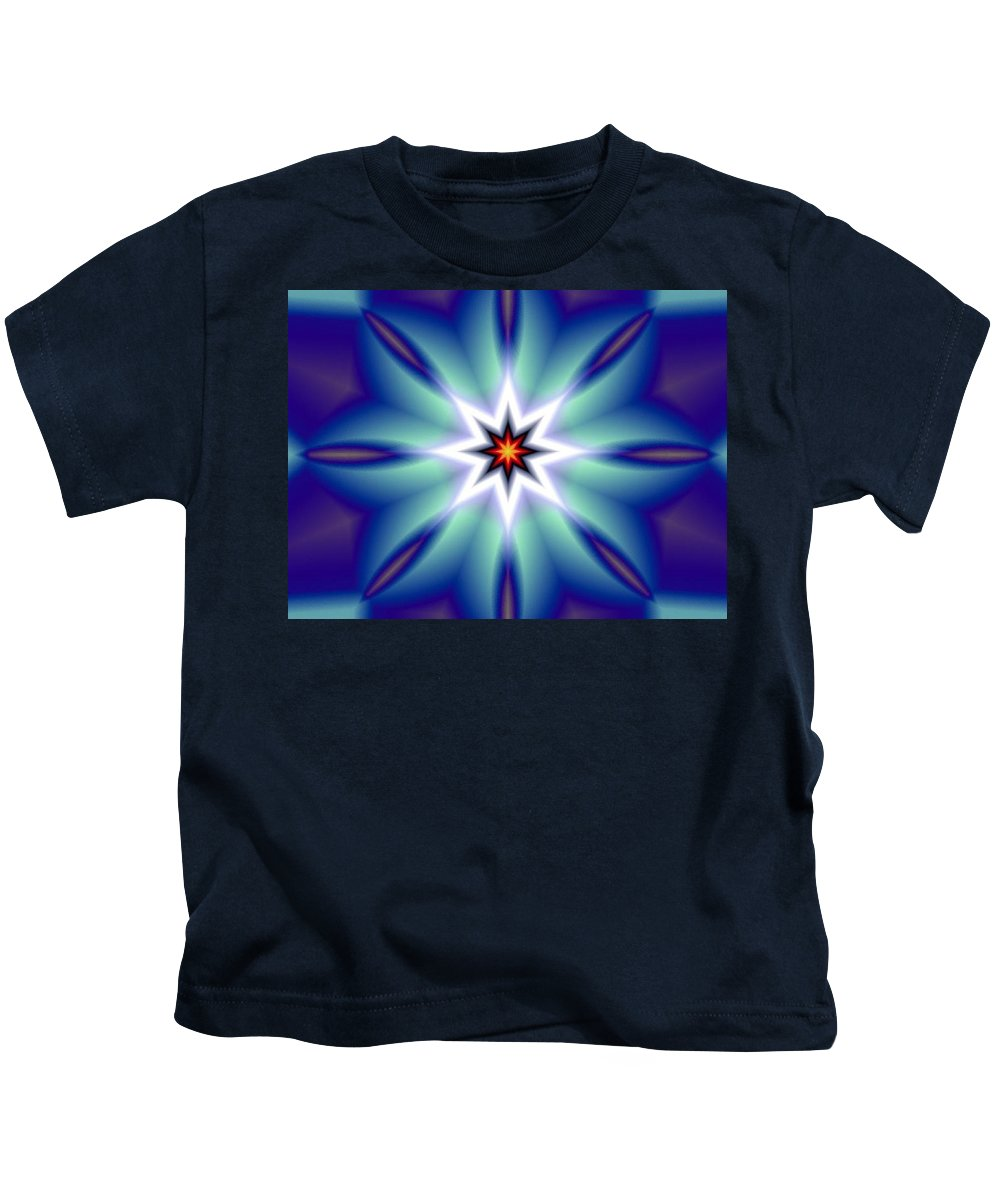 Decorative Kids T-Shirt featuring the digital art The White Star by Oscar Basurto Carbonell
