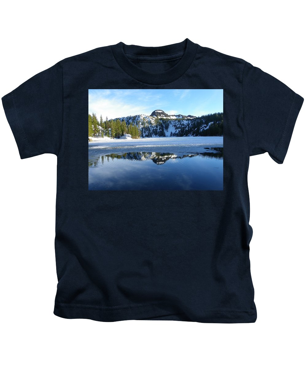 Landscape Kids T-Shirt featuring the photograph Thin Ice by Charleen Treasures