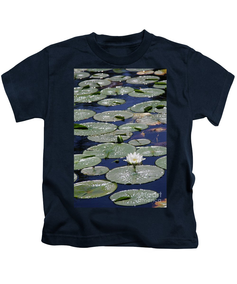 Lilie Pad Kids T-Shirt featuring the photograph Thoughts Of Summer by Suzanne Oesterling
