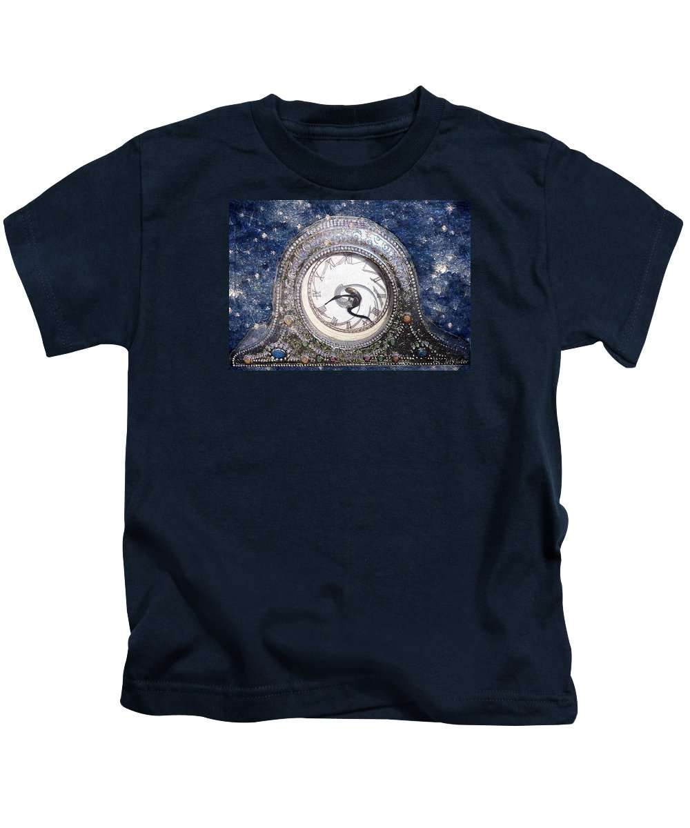 Clock Kids T-Shirt featuring the painting Time Warp by RC DeWinter